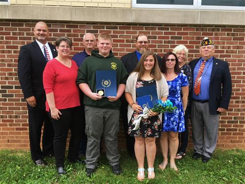 Southern Middle School Students Receive American Legion Honors