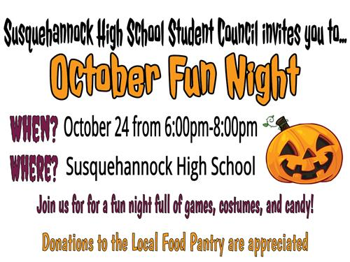 October Fun Night at Susquehannock