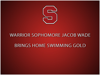 Warrior sophomore Jacob Wade will compete at the PIAA State Championships on Friday, March 19th!