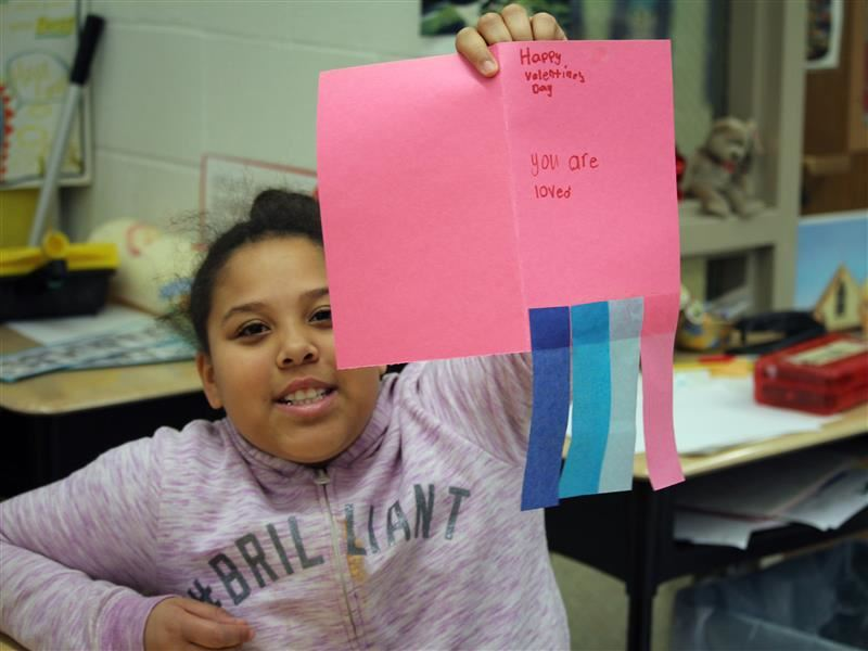 Friendship Elementary School Students Create Valentines for Community Members